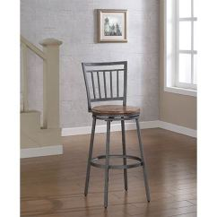 Bar Stool Chair Grey How To Rush A Gray Counter Height 18 26 Inch Stools Free Shipping Bellacor Filmore Slate With Golden Oak Seat
