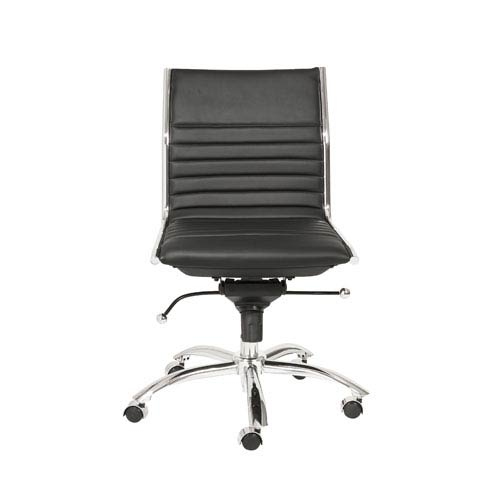 chair without back your zone flip target eurostyle dirk black low office arms 01266blk