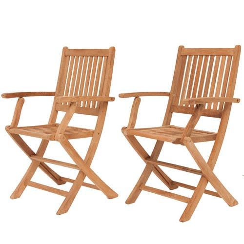 teak folding chair nylon webbing international home miami london armchairs set of two