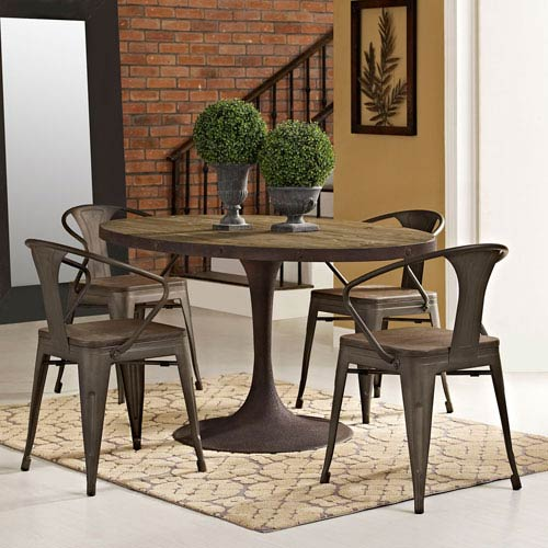 60 inch kitchen table cabinet costs modway furniture drive oval wood top dining in brown