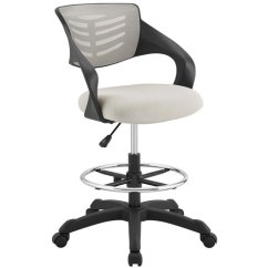 Mesh Drafting Chair Long Name Modway Furniture Thrive Eei 3040 Gry Bellacor