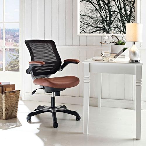 lexmod focus edge desk chair lifetime covers modway furniture vinyl office in tan eei 595 bellacor