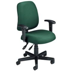 Chair With Arms Walmart Plastic Outdoor Chairs Ofm Office Furniture Green Fabric Computer Posture