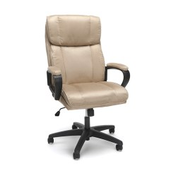 Microfiber Office Chair Knoll Dining Chairs Ofm Furniture Tan Plush High Back Ess