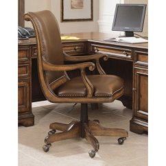 Distressed Leather Desk Chair Wicker Club Hooker Furniture Brookhaven 281 30 220 Bellacor Item 2022783 Image