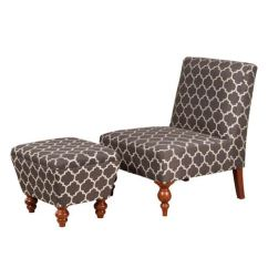 Gray Accent Chair With Ottoman Rocking Chairs At Ikea Meadow Lane Armless Set Fabric K6381