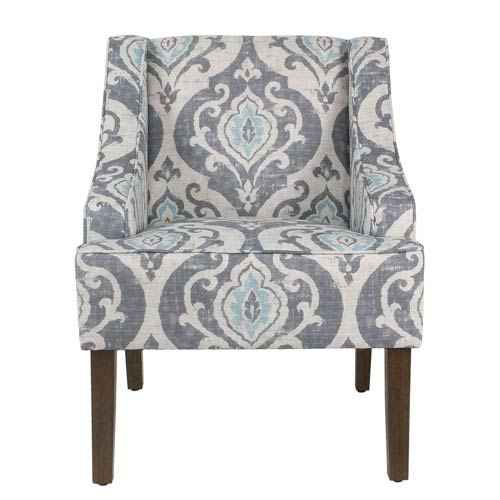 transitional accent chairs skirted dining meadow lane classic swoop chair suri blue k6499 a750 bellacor