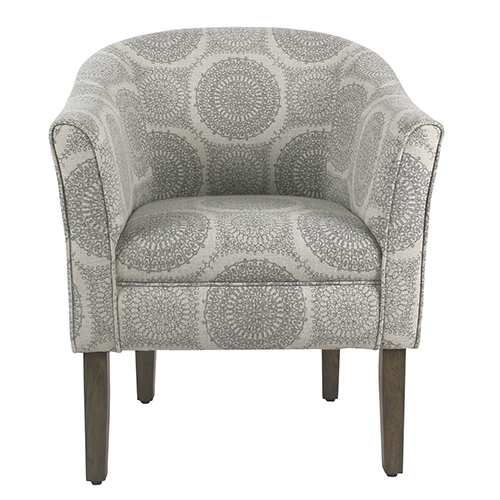 tub accent chair invisible stand meadow lane shaped gray medallion k6859 a832 bellacor