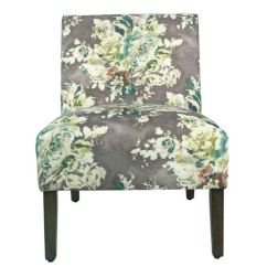 Accent Chairs Gray Pattern Personalized Kid Lawn Meadow Lane Carson Armless Chair Floral K7682 A815