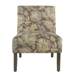 Floral Print Accent Chairs Sure Fit Chair Covers Uk Meadow Lane Armless Gray K7682 A824 Bellacor