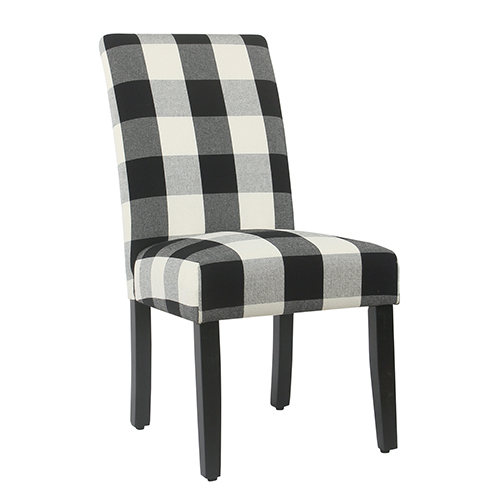 gray dining chair vintage metal high chairs bellacor black plaid parsons set of 2