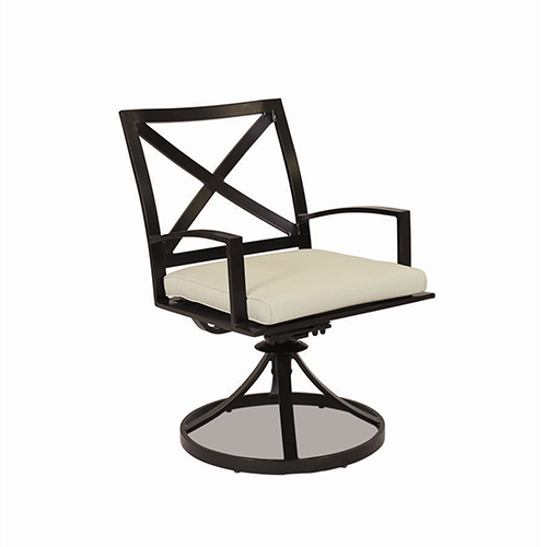 swivel chair in spanish eddie bauer 3 1 high sunset west la jolla dining with cushions canvas flax self welt
