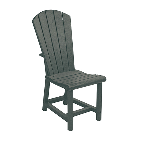 adirondack style dining chairs maestro pedicure chair c r plastic products generations side slate grey c11 18 bellacor