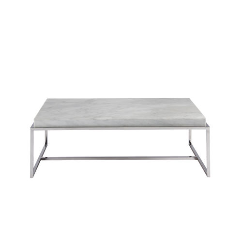 universal furniture stainless steel cocktail table with stone top 645831 bellacor