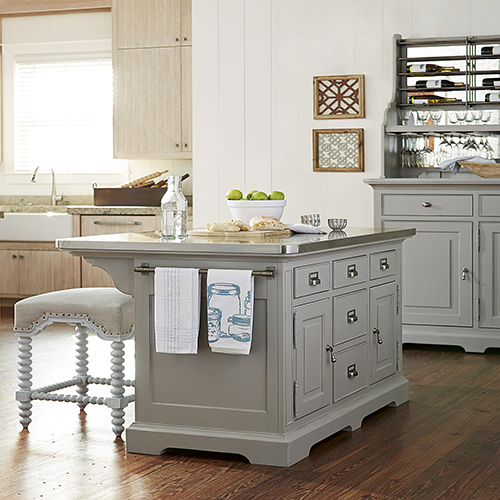 Paula Deen The Dogwood Grey Kitchen Island 599644 Bellacor
