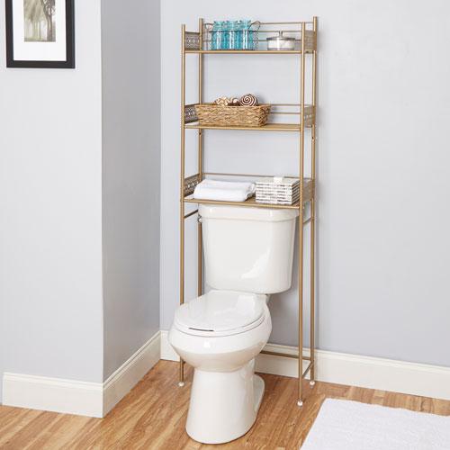 North Oaks Magnolia Bathroom Collection Space Saver Gold