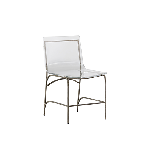 silver metal dining chairs lawn chair covers gabby home penelope antique and clear acrylic