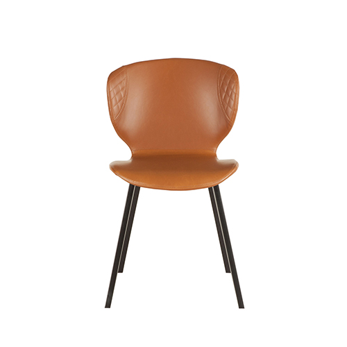 faux leather dining chairs stool chair autocad world interiors set of two tan zwdchartnb