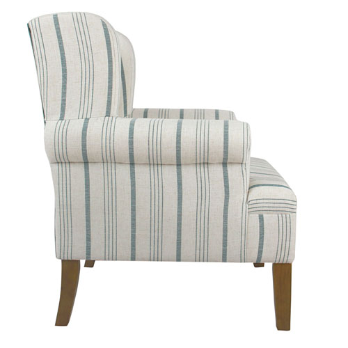 Blue And Tan Accent Chairs