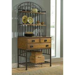 Kitchen Bakers Rack Under Cabinet Lighting Bellacor Home Styles Furniture Oak Hill Baker