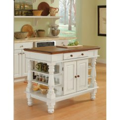 Large White Kitchen Island Frigidaire Appliances Islands Carts Bellacor Americana Antique Sanded Distressed