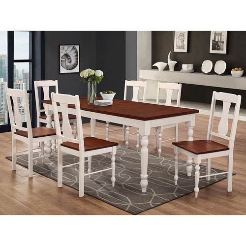 60 inch kitchen table aid stoves walker edison furniture co solid wood turned leg dining brown white