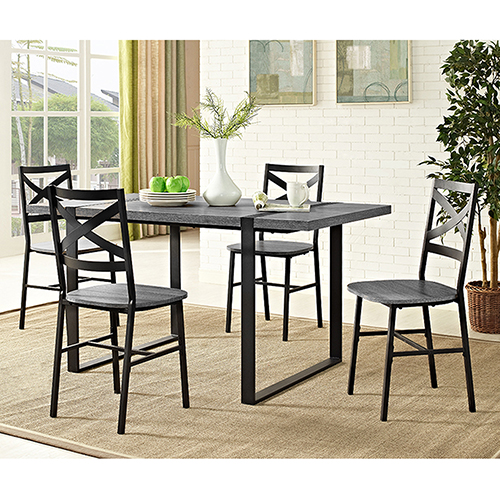 60 inch kitchen table wayfair cabinets walker edison furniture co urban blend wood dining charcoal