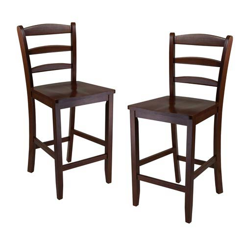 24 inch counter chairs ice cream sandwich chair stools bellacor winsome wood ladder back set of two