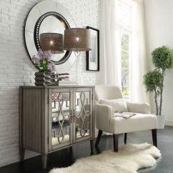 Mirrored Cabinets Living Room Theater Ideas Homehills Georgina Grey 2 Door Cabinet 22646w Bellacor