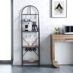 Kitchen Bakers Rack How Much To Remodel A Bellacor Southern Enterprises Percival Modern Farmhouse Style
