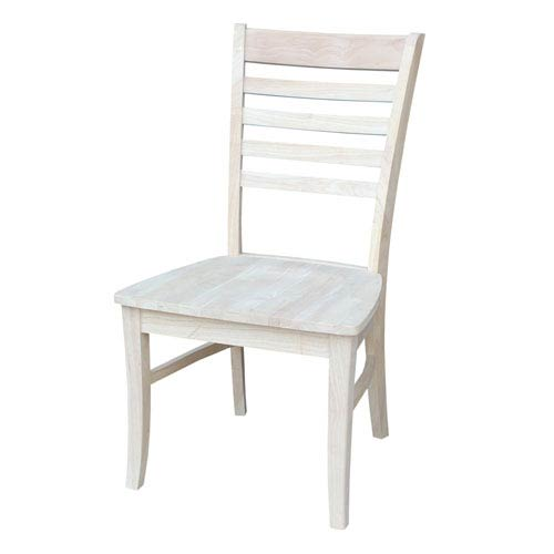 unfinished ladder back chairs white armless office chair international concepts roma dining set of two