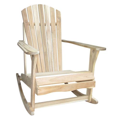 unfinished adirondack chair teal parsons international concepts rocker r 54203 bellacor