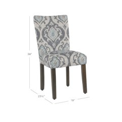 Black Parsons Chair Kitchen Design Plans Chairs Dining Free Shipping Bellacor Classic Suri Blue Set Of 2
