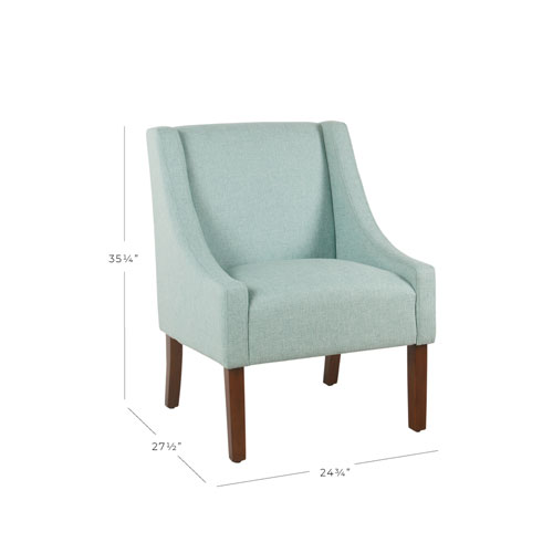 aqua accent chair red swivel office meadow lane modern swoop arm blue k6908 f2044