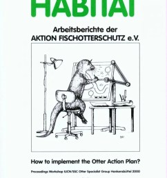 habitat 13 how to implement the otter action plan proceedings workshop iucn ssc otter specialist group hankensb ttel 2000 [ 888 x 1280 Pixel ]