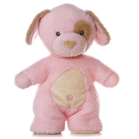 "10"" FLEECY FRIEND PINK PUPPY - SMALL picture"