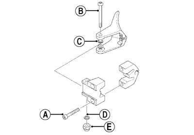 Arctic Cat, Inc. Throttle Lever Kit Aluminum Mounting Block