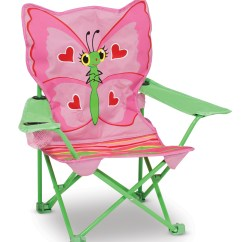 Baby Camp Chair Plastic Table And Set Bella Butterfly Child 39s Folding Melissa Doug