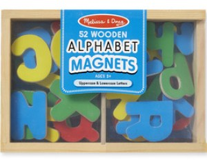 Wooden Letter Alphabet Magnets from Melissa and Doug