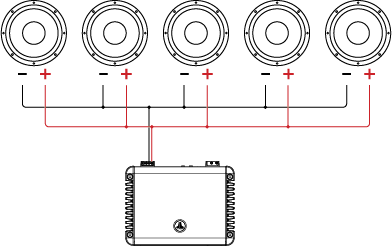 powered subwoofer home audio wiring diagrams 110v diagram single voice coil svc tutorial jl help center five speakers in parallel