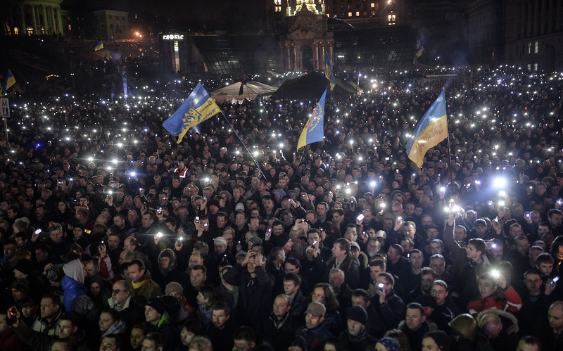Image result for photos of protests over Yanukovych government collapse in 2014
