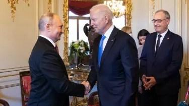 Joe Biden meets Vladimir Putin in Geneva