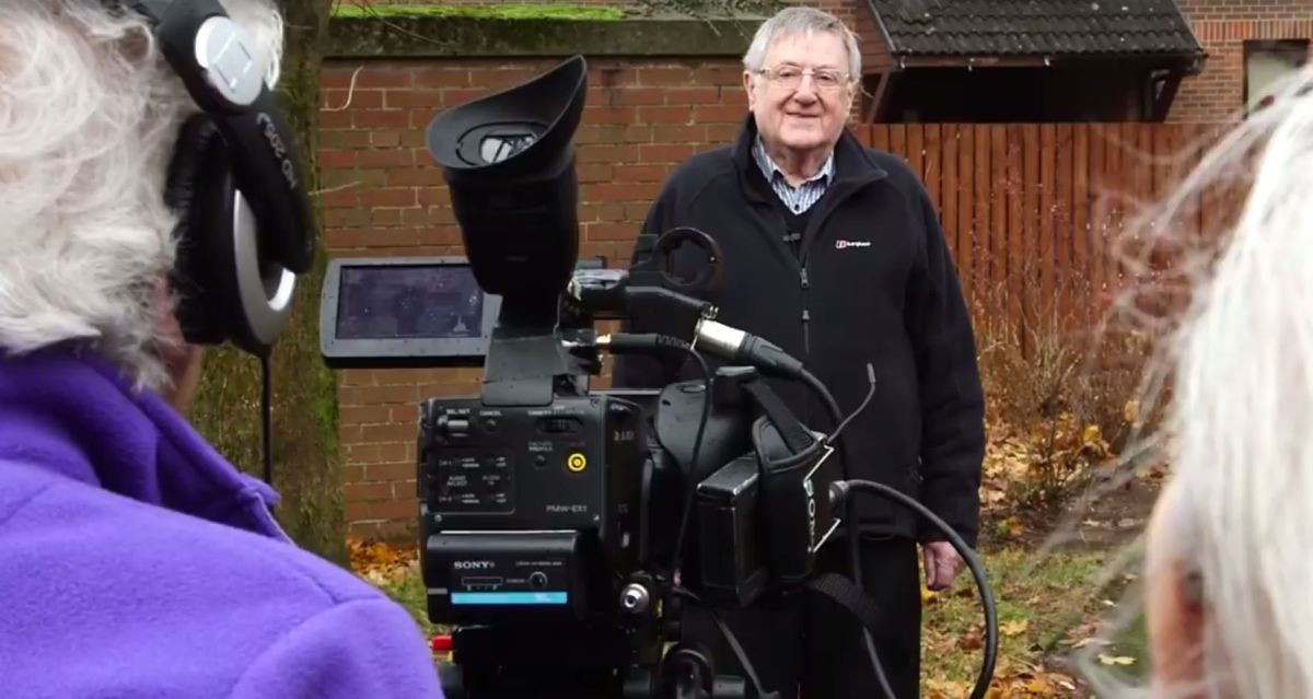 Behind the scenes with a film crew – with an average age of 83