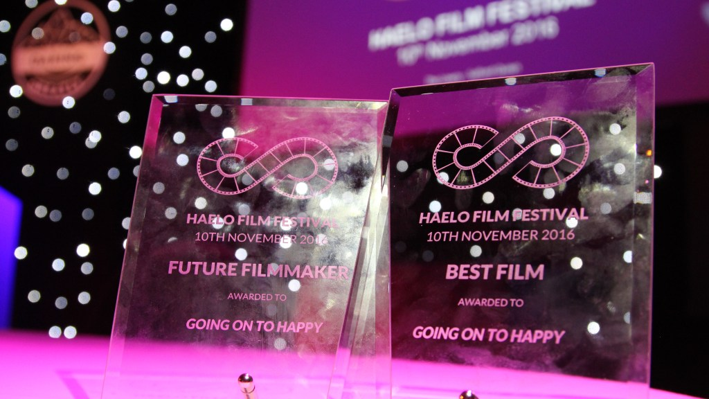 Going on to Happy Haelo Film Festival 2016 Awards for Future Filmmaker and Best Film