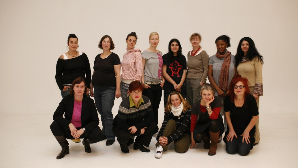 Group of women involved in the film together in a group shot