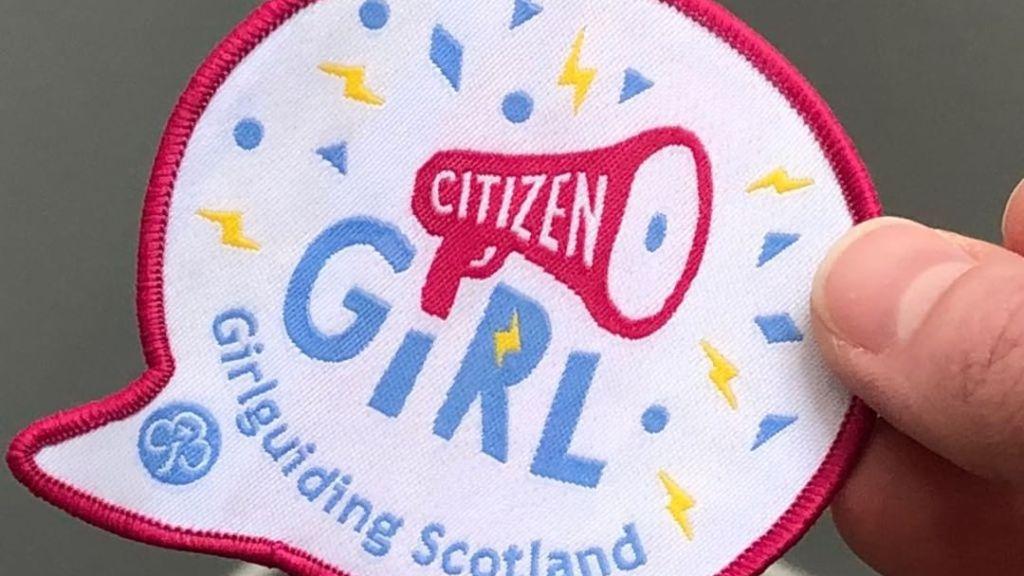 Citizen Girl woven Girlguiding badge