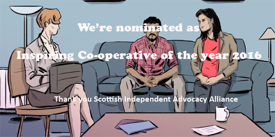 We're nominated as Inspiring Co-operative of the Year 2016