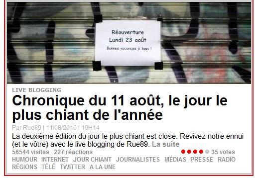 Jour chiant- 11 août 2010 via Rue89