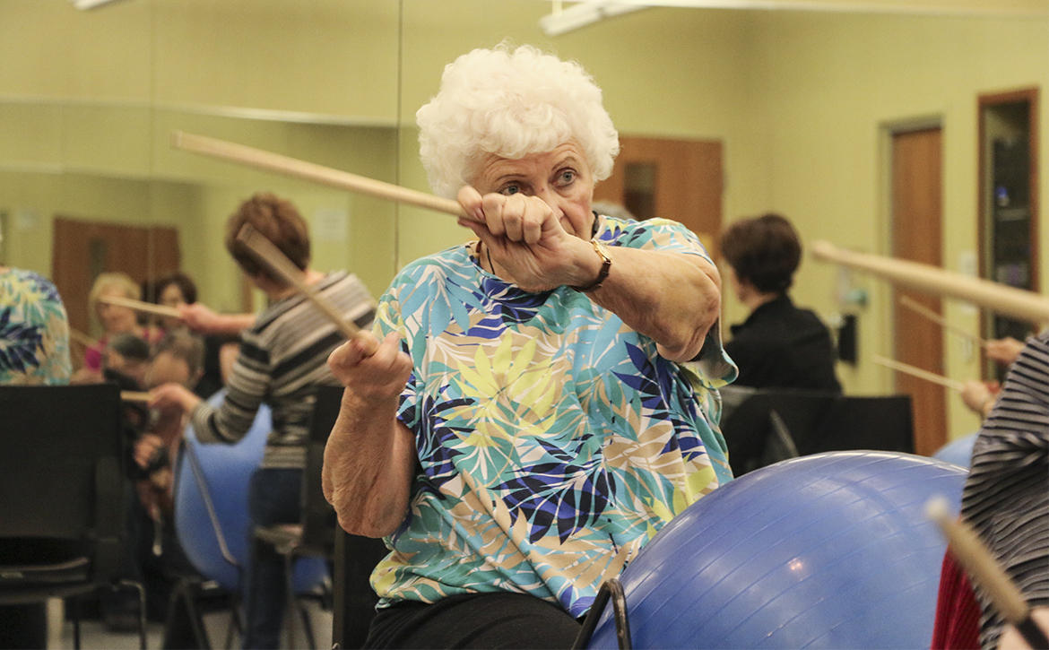 Watch Johnson County Seniors Drum To A Beat To Stay Alive Kcur