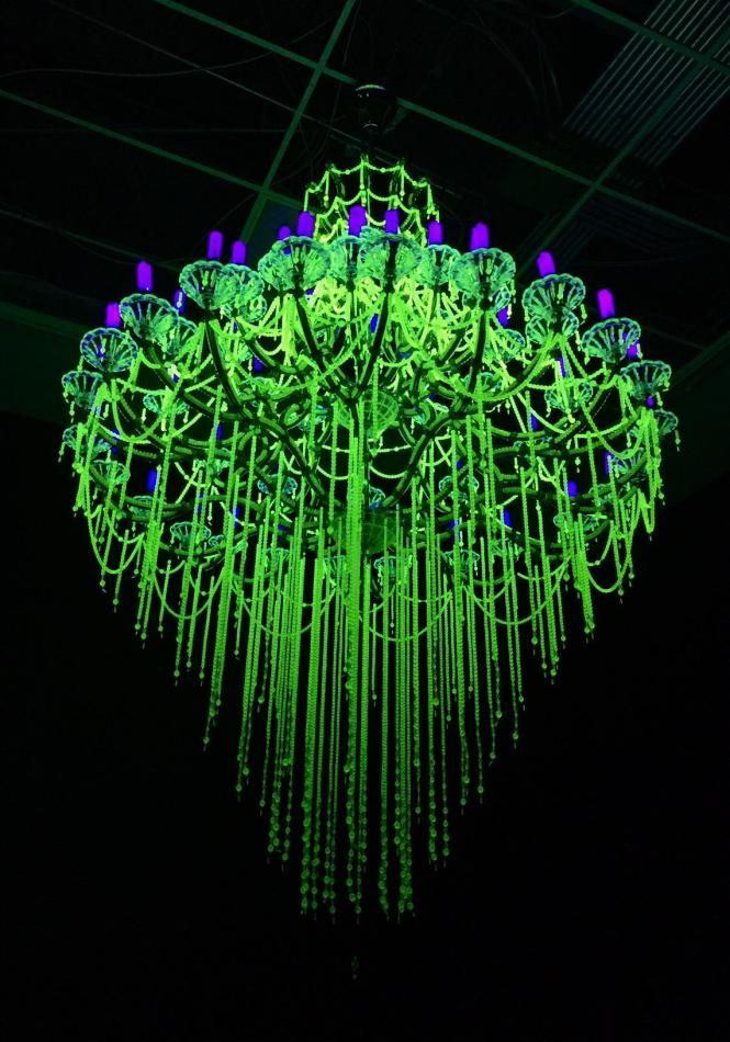 Crystal Palace The Great Exhibition Of Works Industry All Nuclear Nations Series Uranium Glass Antique Chandelier Frames Uv Lights